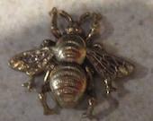 Oxidized Brass Bee