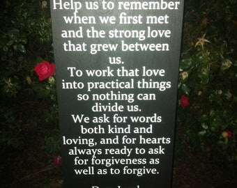 Wedding Prayer sign