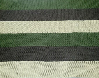 Crochet Striped Afghan, Size Twin-Made to order