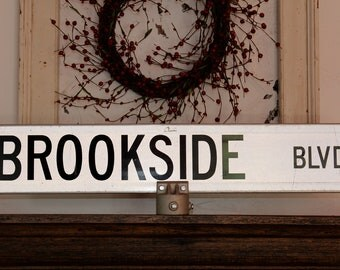 Cool Metal Street Sign Industrial Decor