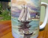 Sailboat Coffee Mug Otagiri Vintage