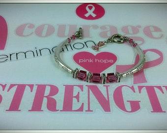 Pink Breast Cancer Awarness Bracelet