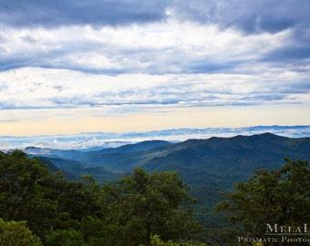 Mountain Photography, Blue Ridge Mountain Scene, Western North Carolina, Asheville, NC Photography PRINT, Mountain Wall Art, Mountain Decor