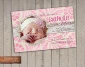 Birth Announcement - Floral Vintage