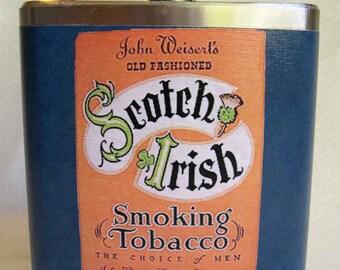 Flask - Scotch Irish Tobacco Label