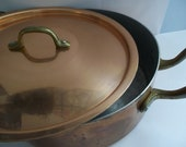 FRENCH VTG Copper Pots/ Copper Lidded Pots/ Made in France Copper Pots/ Old Copper Pots/ European Copper - MaisonettedeMadness