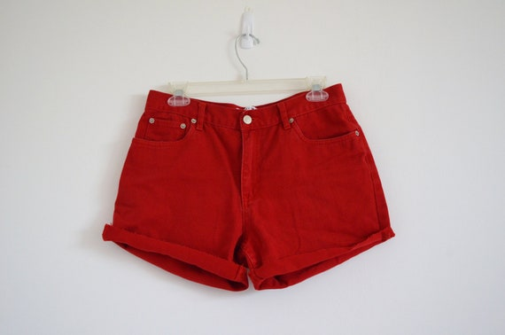 Red Tommy High Waisted Hot Pant Sz 8