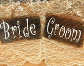 Bride and Groom or Mr and Mrs wedding signs