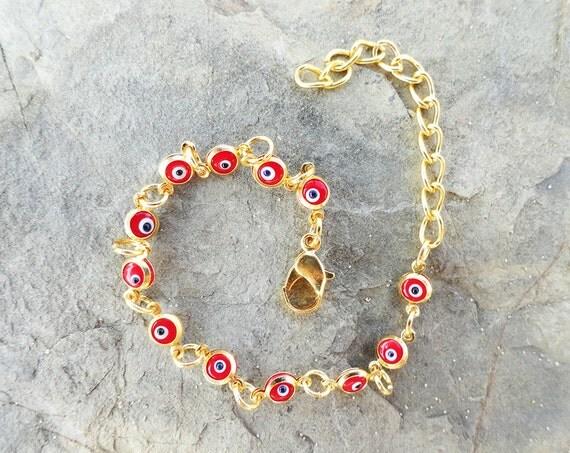 Red evil eye bracelet, jewelry, women, girl, birthday, new year, gift, chirtsmas, xmas, friendship, best friend, unique