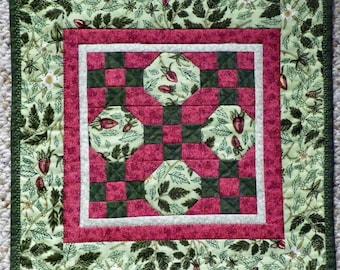 Strawberry Patch Miniature Quilt