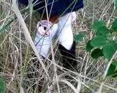The Sienna: white knee socks - girl's s/m/l - snaps & flowers