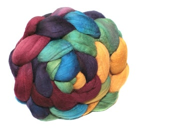 Merino Wool 15.5 micron Australian Merino Wool Roving Hand Dyed Spinning Fiber Super Soft Wool 114 gm 4 oz