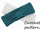 crochet headband pattern, pdf tutorial earwarmer , hairband,  womens headband, size small or large, kids girls,  crochet pattern