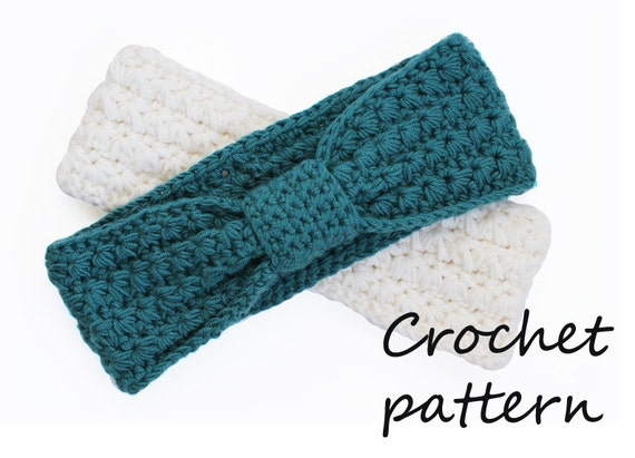 Free Crochet Patterns For Ladies Headbands : Items similar to crochet headband pattern, pdf tutorial ...