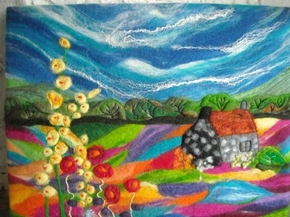 Felt Art Felt Painting Felt Landscape
