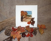 Hand felted picture......Autumn Leaves