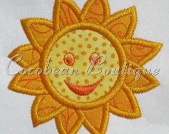 Sun embroidery applique