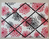 """Dramatic Red and Black French Memo Board (18""""x24"""") Custom Order"""