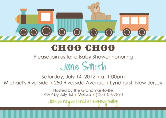 Items similar to choo choo invitation train baby shower invitation items similar to choo choo invitation train baby shower invitation personalized custom baby shower train birthday invitation print your own on etsy filmwisefo
