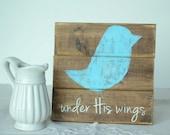 Baby Blue Bird Psalms Sign