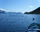 Kayaking amongst glaciers in Ayalik Fjord, Alaska (Photograph)