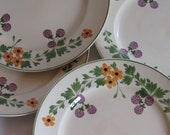 Vintage Collection of Four Titan Ware Plates / Royal Adams Made in England / Plate Collection