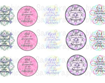 """1"""" DIGITAL Bottle Cap IMAGES For Use On Finished Products ONLY"""