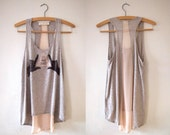 Let's Make Shapes - Hand Printed Vest - Dove grey marl, size Small