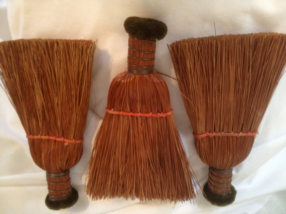 Vintage Antique Serving Brooms three in all