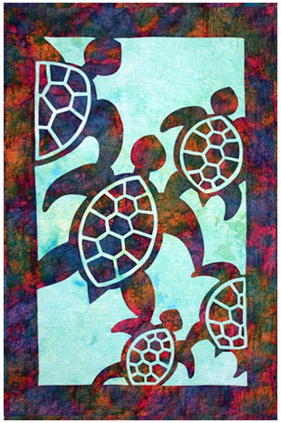 Herd Of Turtles Quilt Pattern Pacific Rim By UndercoverQuilts