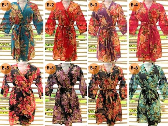 RESERVED for Nicole- Set of 3 kimono robes