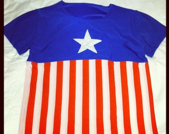 READY TO SHIP All American Inspired Men's Running Shirt