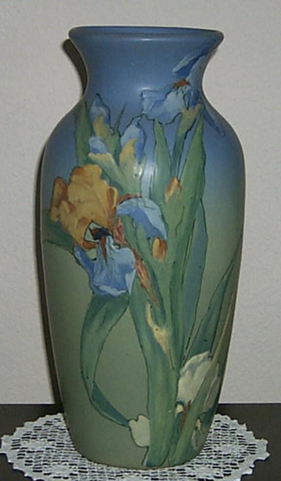 On Hold Vintage Weller Pottery Hudson 15 Vase With 3
