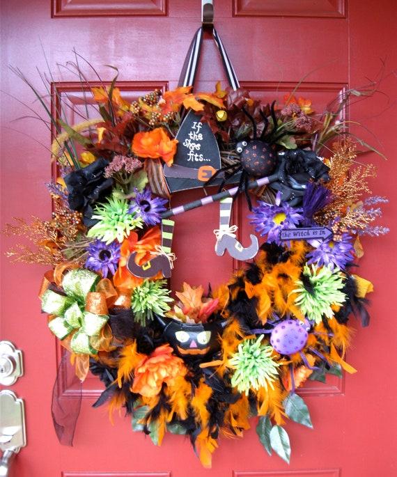 Happy Halloween Witches Brew Wreath, SALE