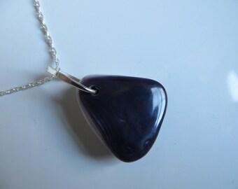Deep Purple Seashell jewelry necklace