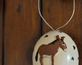 Donkey Egg Ornament