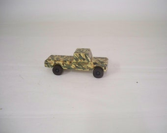 Pick Up Truck,   Desert Camo Wood Truck,  Army Truck,  A Toy For Kids, Wood Pick Truck
