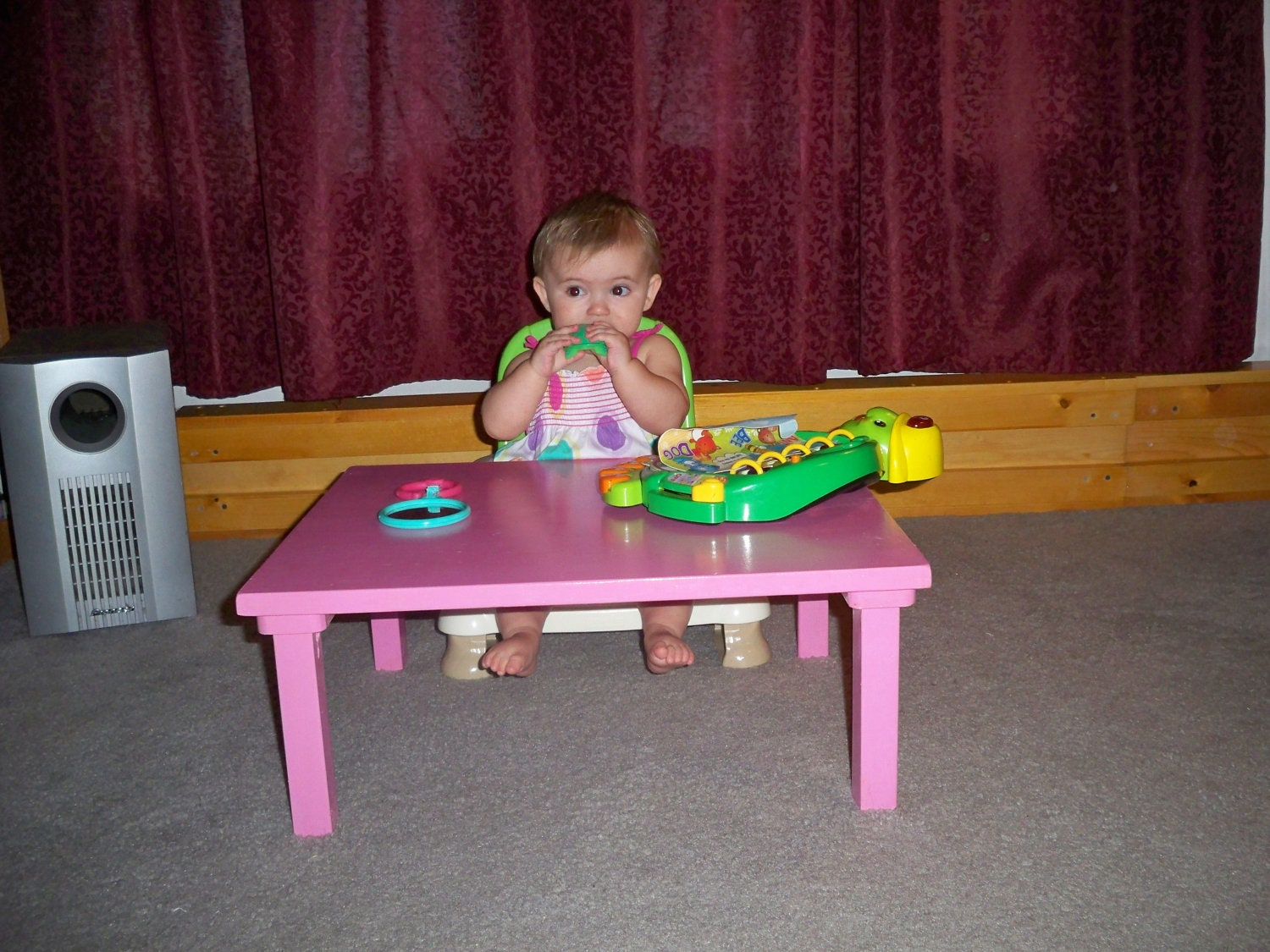 Kids Table Kids Floor Table Kids Coffee Table By Hummelcreations