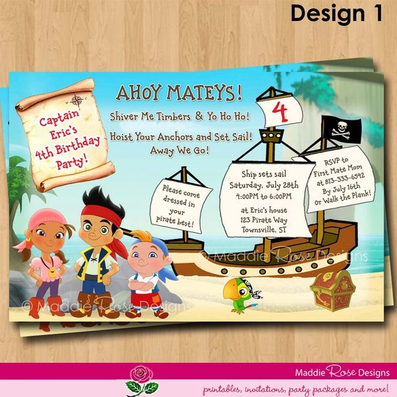 a jake inspired pirate birthday party!!! - motherhood support, Invitation templates
