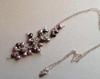 Multi Purple Pearl Necklace