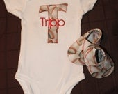 Applique Baseball Onesie with Matching Shoes