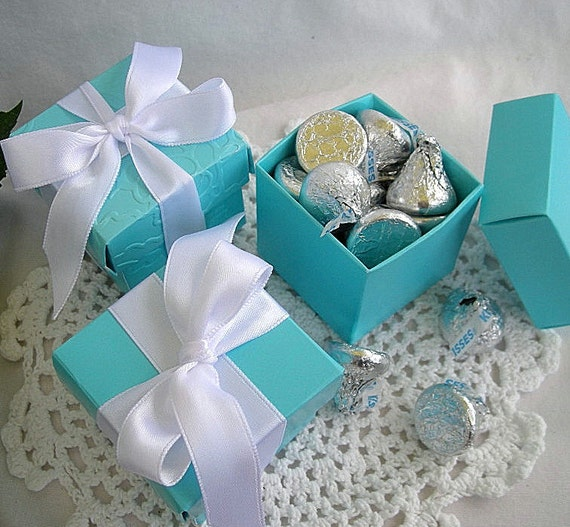 Tiffany Blue Wedding Party Favors Favor Boxes Turquoise Box