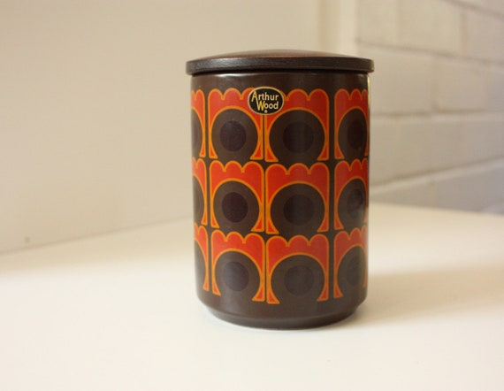 Arthur Wood Retro Canister Orange