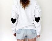 Elbow Heart Patch Sweatshirt - Jet Black