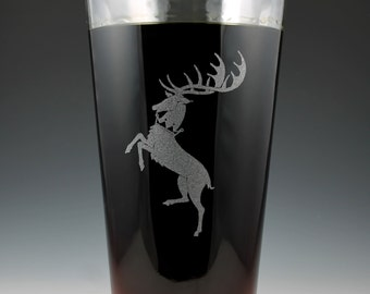 House Baratheon Game of Thrones Dual Sided Pint Glass