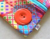 Open Face zip clutchie - Crazy Colorful