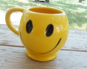 1970's McCoy Smiley Face Cup or Mug Planter