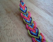 chevron leaf pattern woven friendship bracelet