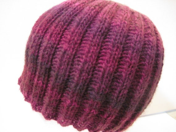 Hand Knitted Berry - Striped Toque