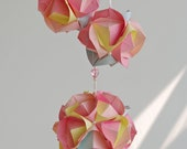 """Decorations - Mobile """"Balls in petals"""" - Spring blossom - Weddings - Decorations - Bedroom mobile - Eco - Paper mobile - Shabby chic"""